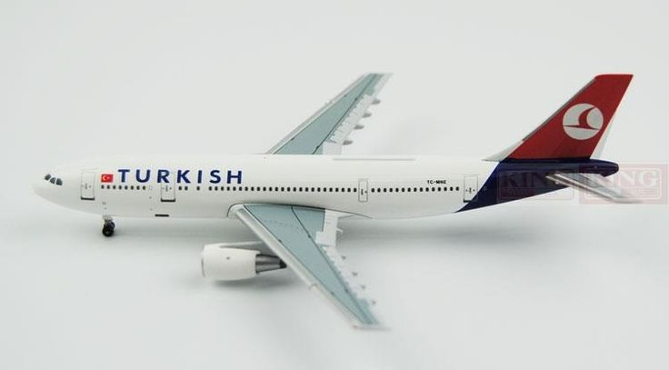 (86.12$)  Buy here - http://aivfx.worlditems.win/all/product.php?id=32598223267 - Aeroclassics Turkey Airlines TC-MNE 1:400 A300-600 commercial jetliners plane model hobby
