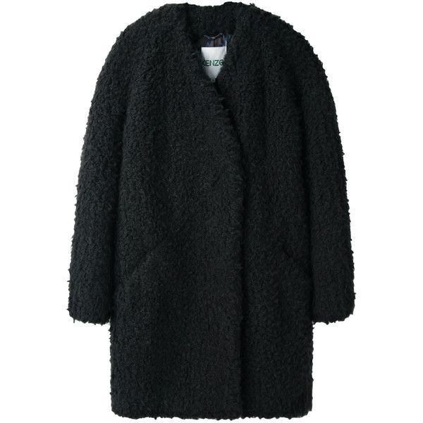 Kenzo Faux Fur Coat found on Polyvore