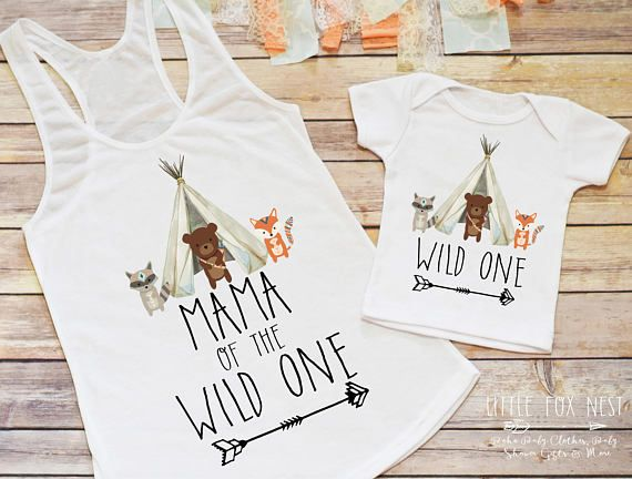 Are you on the hunt for the cutest first birthday boy shirt or outfit? Youve found the perfect Mommy and Me birthday outfit set, am I right? This Mama of the Birthday Boy (or girl) and matching birthday boy or girl shirt set makes the perfect outfit for birthday pictures or to wear to a birthday party, especially if its a woodland or fox themed birthday! Want the matching family shirts? Please go here: https://www.etsy.com/listing/524443797/birthday-shirt-boho-baby-cl...