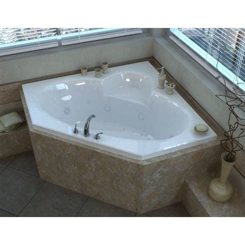 Avano Av6060sdl St Martin 58 Acrylic Air Whirlpool Bathtub For Drop In Installations With Center Drain Size Under 60 Inches Bathtubs Acrylics And