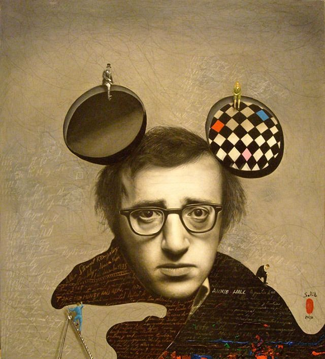 Mario SoriaArtists Mario, Collage Art, Mario Soria, Woody Allen, Portraits, Barcelona Spain, Art Painting, Mickey Mouse Ears, Art Illustration