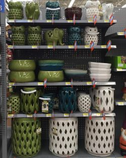 Can You Believe Such CUTE Stuff Is At Wal Mart??!! These Remind Me Of Stuff  From Pottery Barn... New Lawn And Garden Decor Has Hit The Shelves!