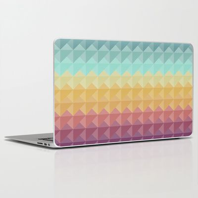 Retro Triangles Laptop & iPad Skin by Refreshdesign