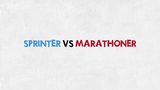 In running, you've all seen the sprinter and the marathoner. One looks like an 80's movie character and the other like he has had too many crash course diets. They are both runners so how come they don't look alike?
