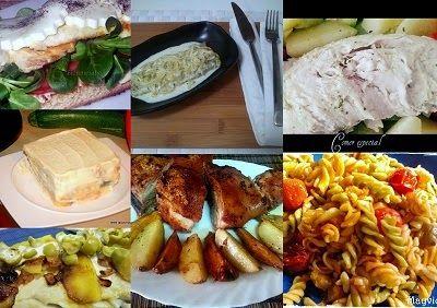 Sexto menú semanal para cenas ~ Comer especial