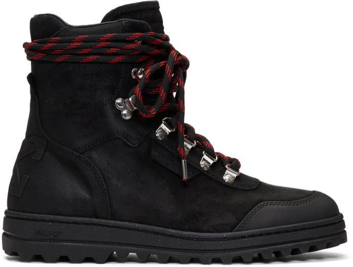 Off-White Black Hiking Boots