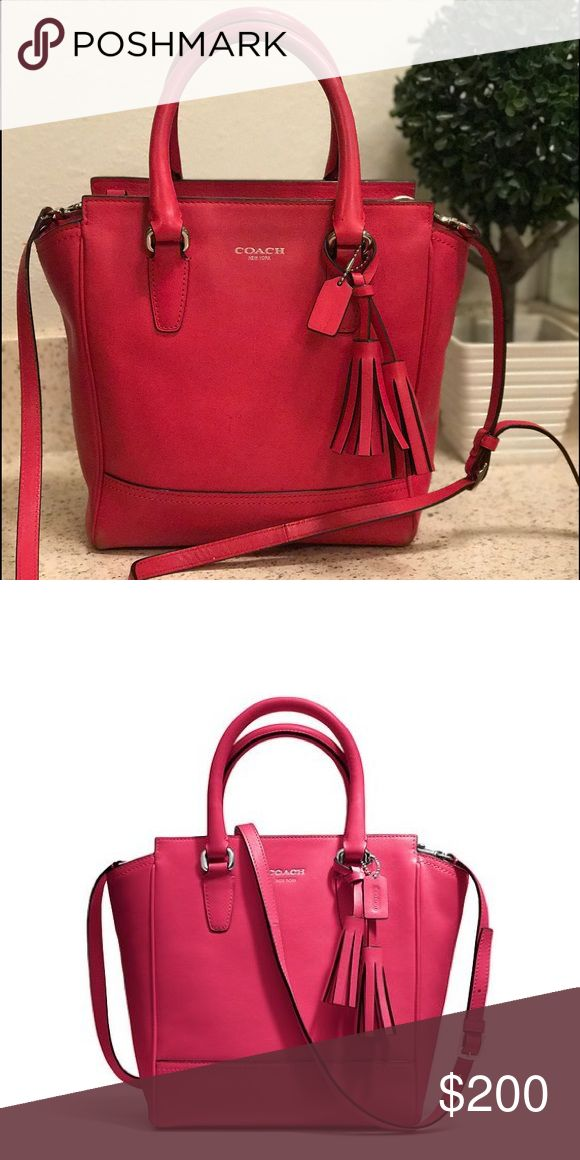 Coach Legacy Mini Tanner purse Red Coach Legacy Mini Tanner cross body tote Coach Bags Mini Bags