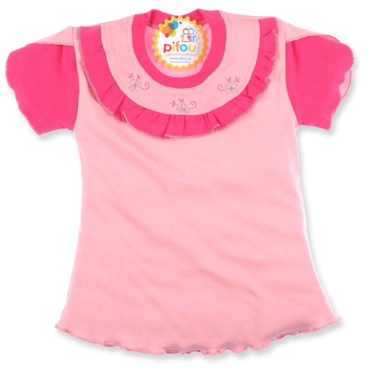 Părinții își doresc ca fetițele lor să fie cohete, iar Pifou le vine în ajutor cu acest tricou colorat.