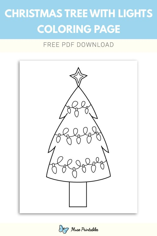 Free Christmas Tree With Lights Coloring Page Christmas Tree Lighting Coloring Pages Free Christmas Printables
