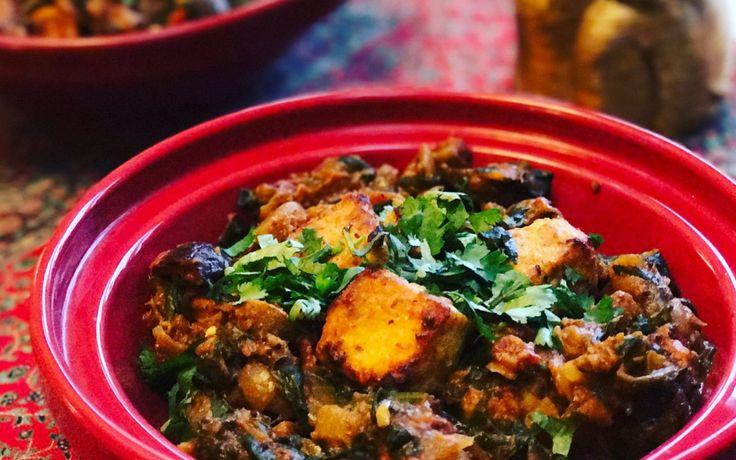 Tofu Tikka Masala with Mushroom and Spinach [Vegan] | One Green Planet