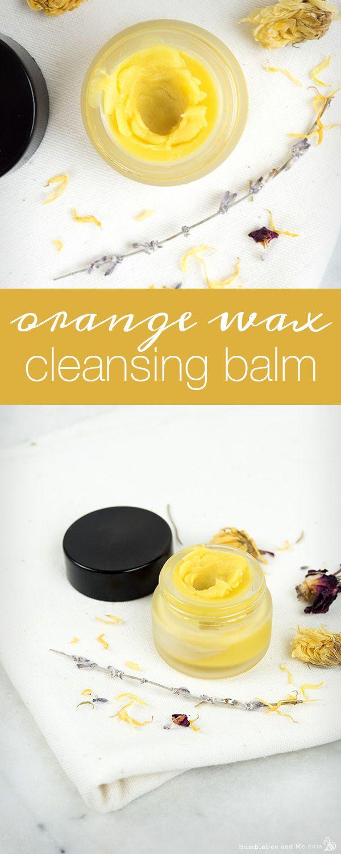 How to Make Orange Wax Cleansing Balm
