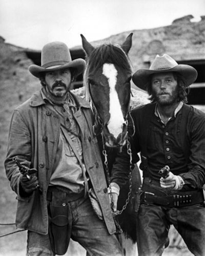 THE HIRED HAND - Warren Oates & Peter Fonda - Directed by Peter Fonda - Universal Pictures - Publicity Still.
