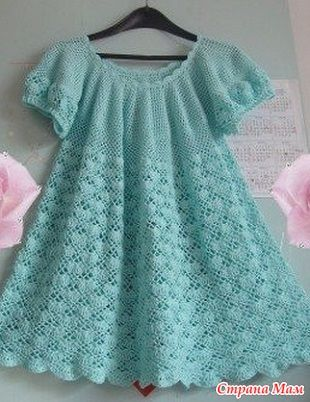 Хочу связать такое платье. Нужна схема