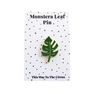 Monstera Leaf Enamel Pin • This Way To The Circus • Tictail