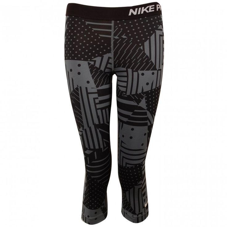 Tony Pryce Sports - Nike Pro Patch 3/4 Capri Women's Tights Black & Grey | Intersport