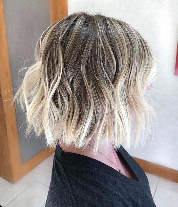 Blonde Bob Short Hair Balayage Short Ombre Hair Blonde Balayage Bob