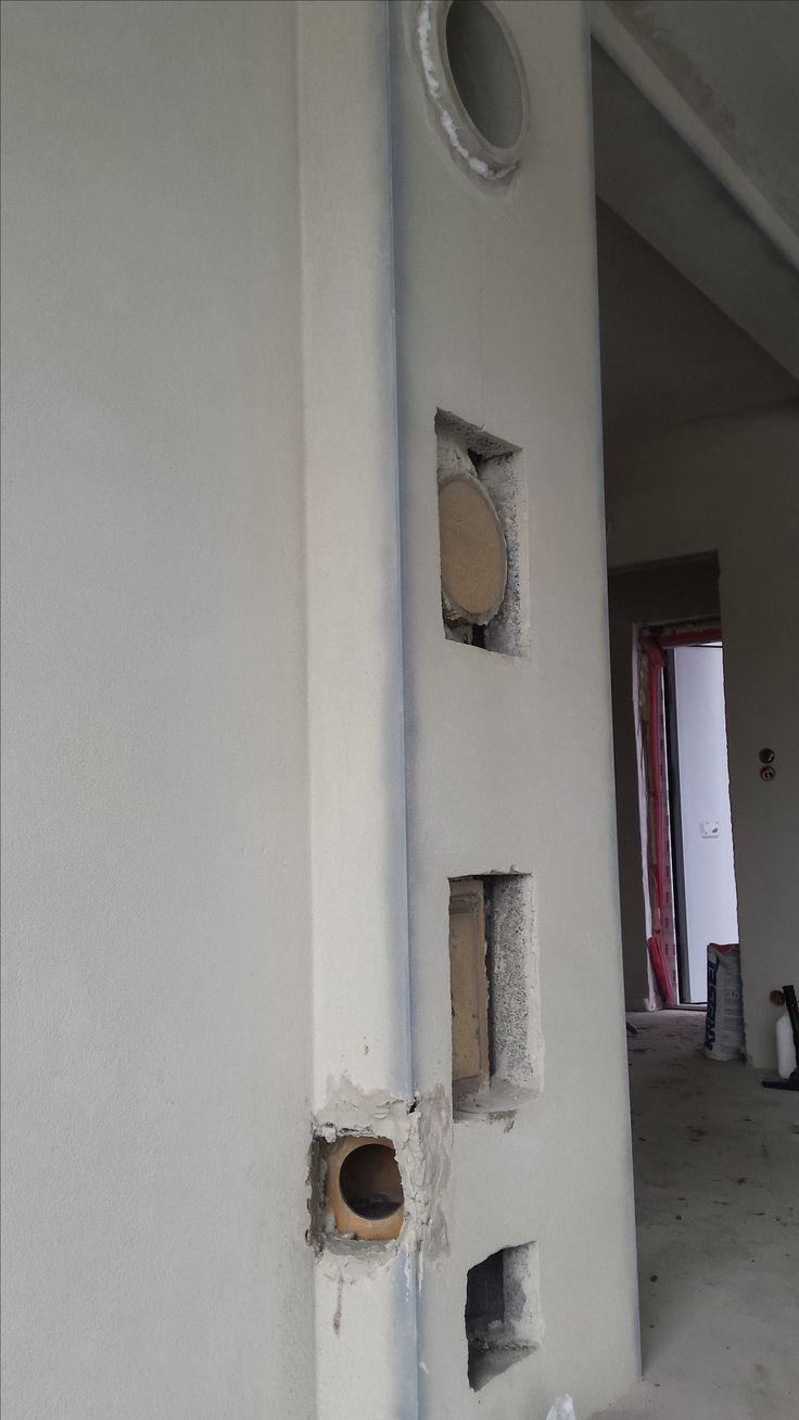 Komin poprawiony po firmie budowlanej