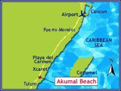 Where Is Akumal Mexico Located | Akumal Beach Resort : TravelYucatan.com