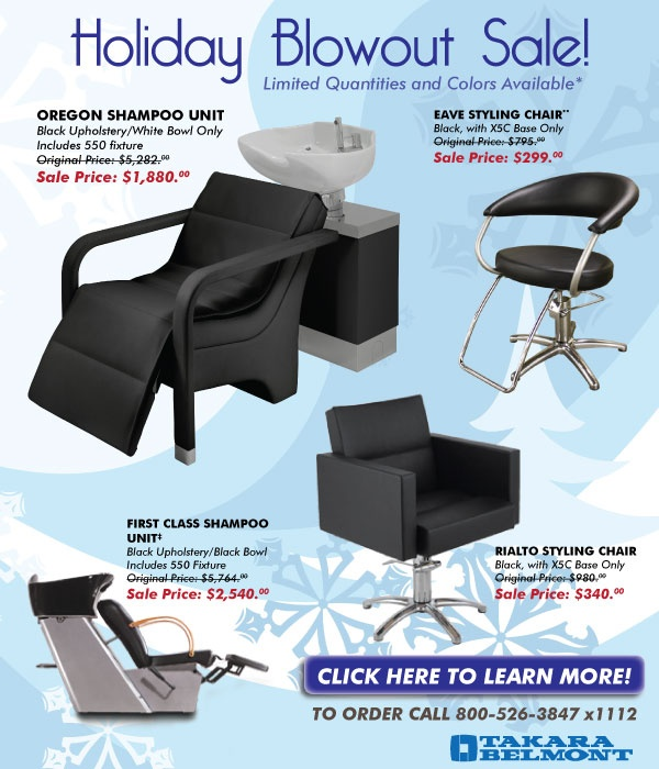 Takara Belmontu0027s Amazing Holiday Blowout Sale (through Dec. 31, 2012)!  Salon DesignShampoo