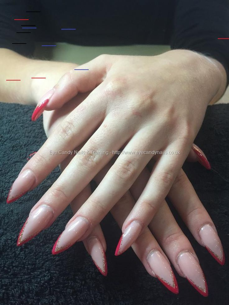 32 Stunning Stiletto Tip Nail Designs In 2020 With Images Red