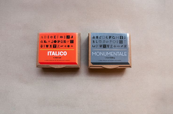Italico by Italo Lupi and Monumentale by Carin Goldberg