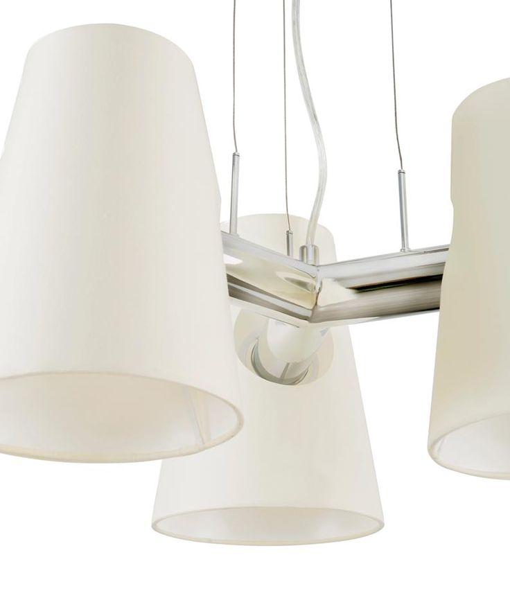 Lámpara de techo LUPE cromo detalle