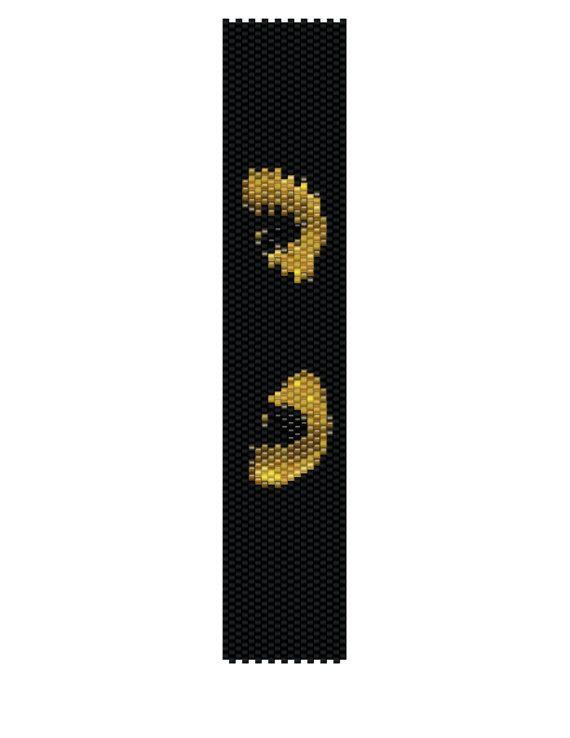 Peyote Bracelet Pattern - I've Got My Eyes On You (Buy 2 Patterns - get a 3rd. Pattern FREE)