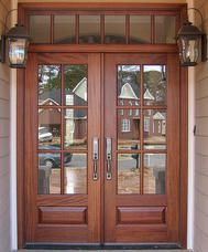 Craftsman Exterior Wood Front Entry Doors DbyD-4008