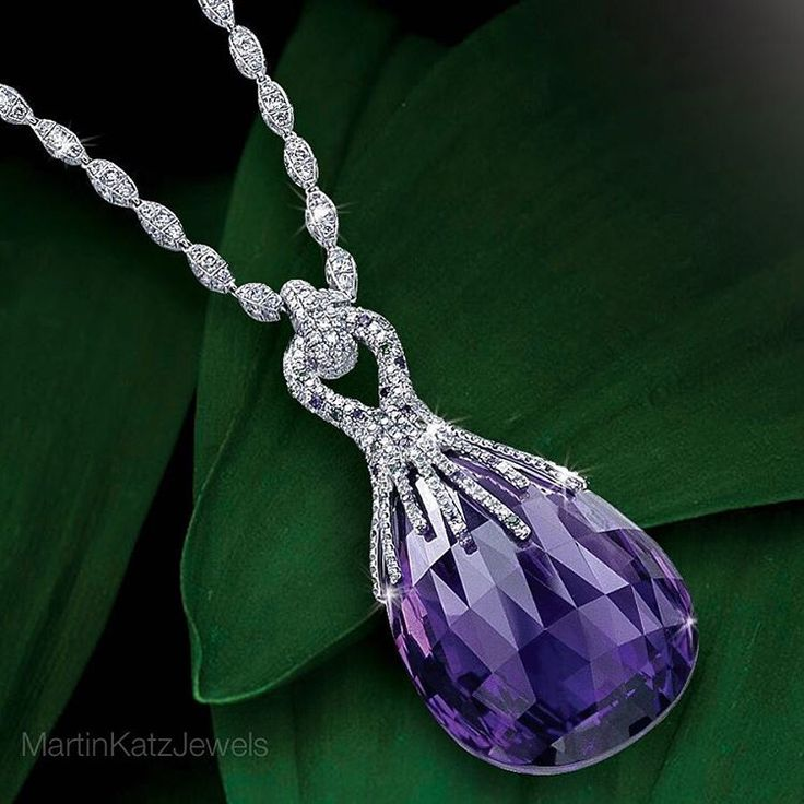 Martin Katz -  75 carat Amethyst Pendant with hundreds of Micropave Diamonds.