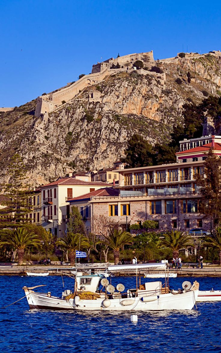 Romantic Nafplio, small town in Peloponnese (Greece) Walked the steps from the Palamidi fortress!