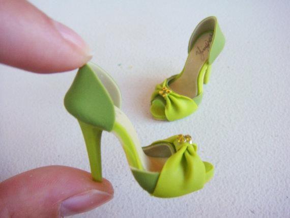 .Polymer heels / Zapatillas de arcilla polimerica #fimo #sculpey