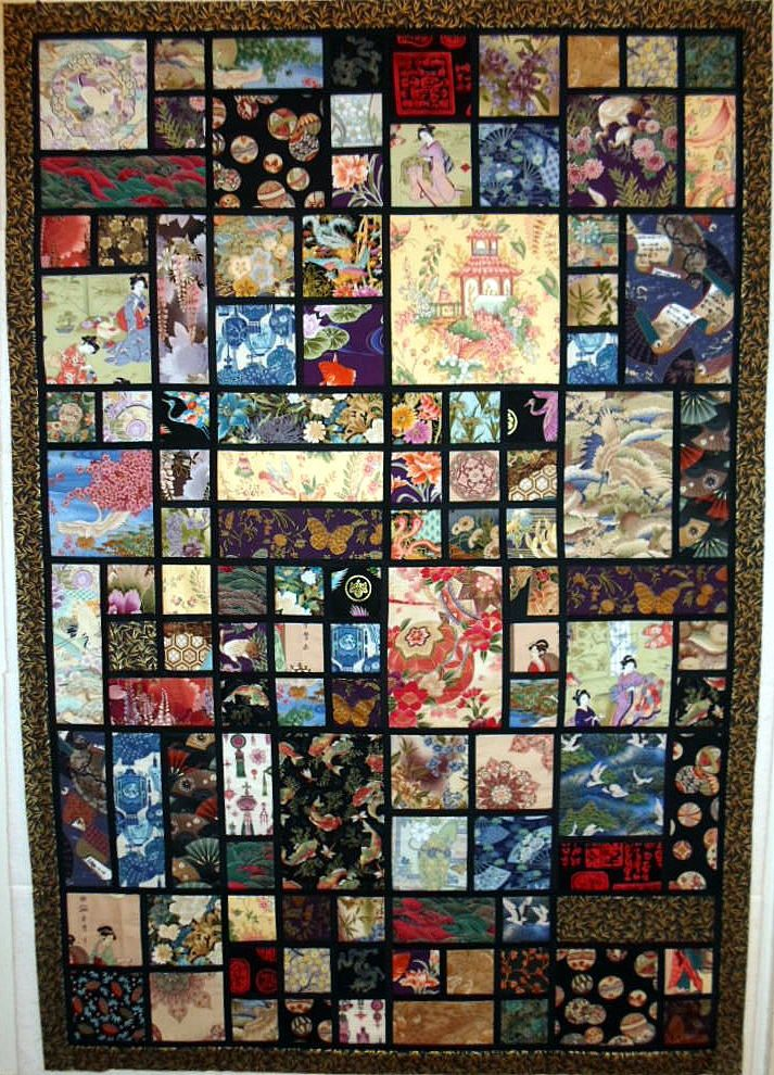Easy Japanese inspired quilt.