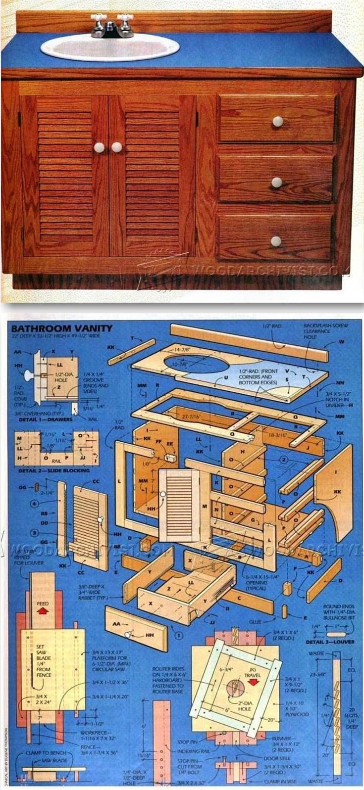 1000 ideas about woodworking plans on pinterest - Bathroom vanity plans woodworking ...