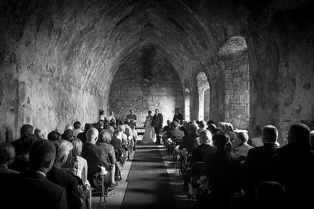 Black and White Wedding photography inchcolm Island Wedding