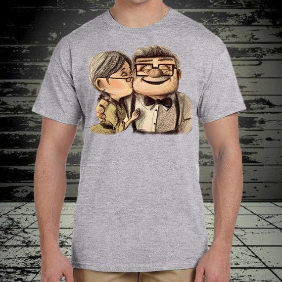 up  Ellie kiss Carl Fredricksen design for tshirt by klikcklukc
