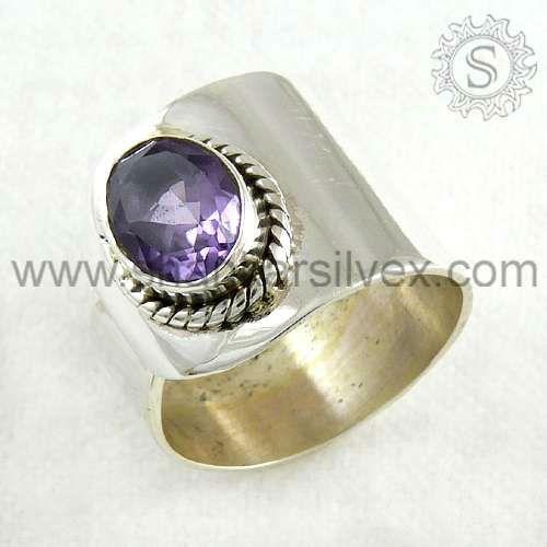 Buy Amethyst Gemstone Ring Online at www.shankarsilvex.com