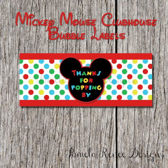 INSTANT DOWNLOAD Mickey Mouse Clubhouse by PamelaReneeDesigns, $2.00