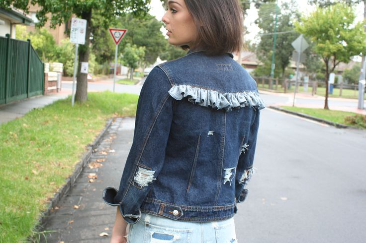 Frayed Language customised denim jacket. This one has become my experiment piece