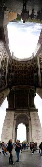 L'arc de triomphe Paris, France  Panoramic shot by Gionna Korini