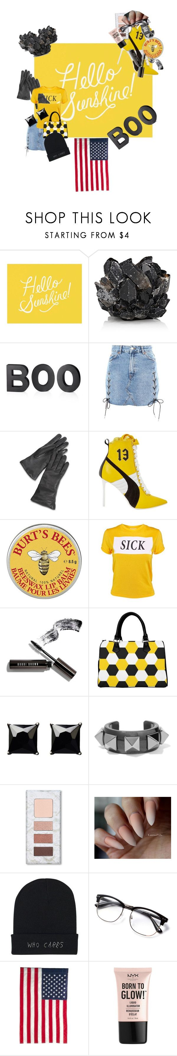 """""""Boots"""" by ellled ❤ liked on Polyvore featuring Pottery Barn, McCoy Design, Crate and Barrel, Topshop, Puma, Burt's Bees, The Ragged Priest, Bobbi Brown Cosmetics, Witchery and Valentino"""