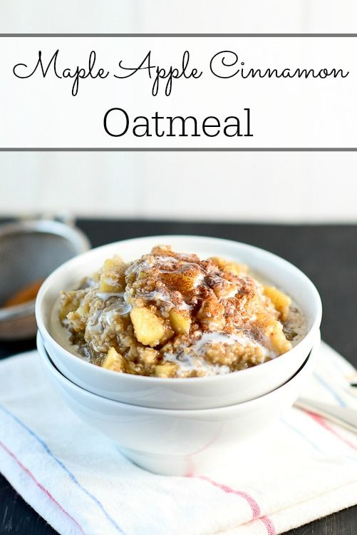 Eating this healthy and filling Maple Apple Cinnamon Oatmeal will make you feel like you are having dessert for breakfast!