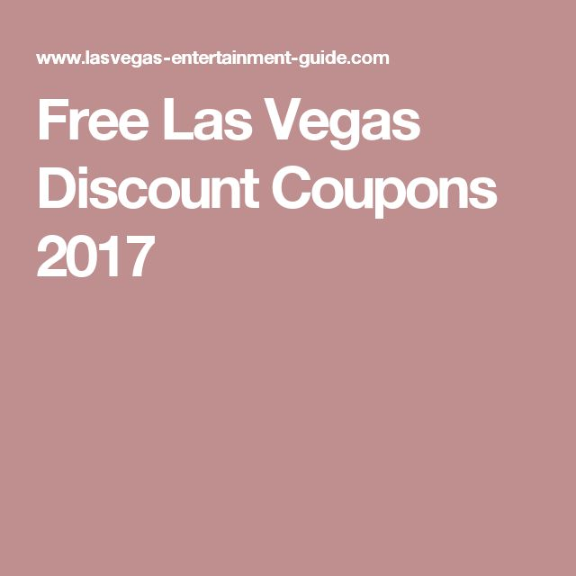 Vegas discount coupons 2019