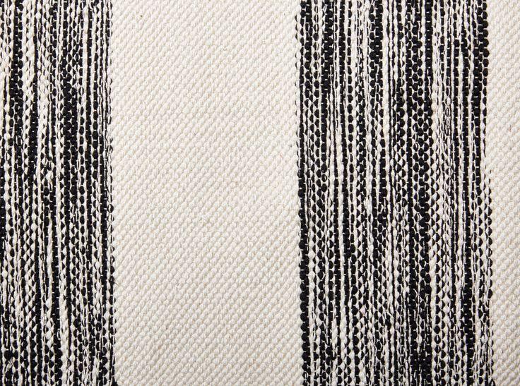 MUMMOLA-puuvillamatto 80 X 300 cm Musta-valkoinen