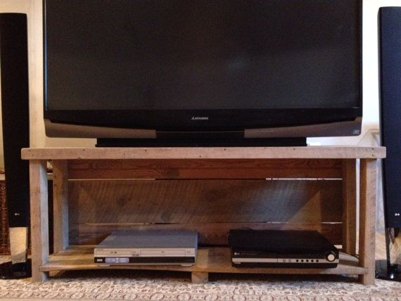 reclaimed wood tv stand media console