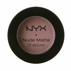 NYX 'Leather & Lace' Nude Matte Eye Shadow ~ 1/3 price makeup dupe of popular discontinued MAC 'Bisque' Eye Shadow #makeupdupe #makeup #dupes