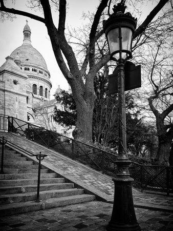 Steps to the place du sacré cœur montmartre paris france