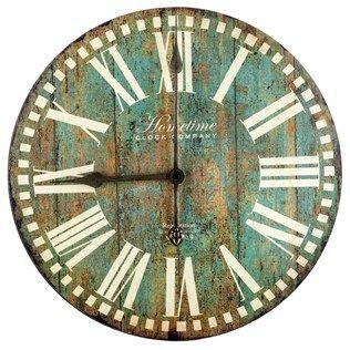 Antique Blue Round Wall Clock