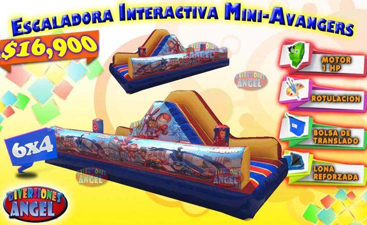 Venta de Brincolines Inflables, Escaladora Interactiva Mini Avangers
