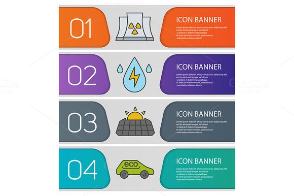 Bio technology banners. Vector  CreativeWork247 – Fonts, Graphics, Themes, Templates