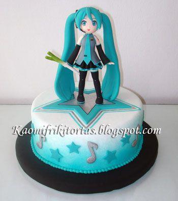Kaomi Friki Tortas: Torta de Hatsune Miku - Vocaloid